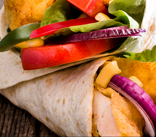 Regular Chicken Wrap, Pitta or Burger