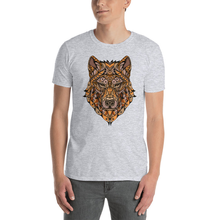 Ornate Orange Wolf T-Shirt by BXX Studio