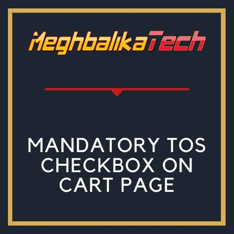 MANDATORY TOS CHECKBOX ON CART PAGE