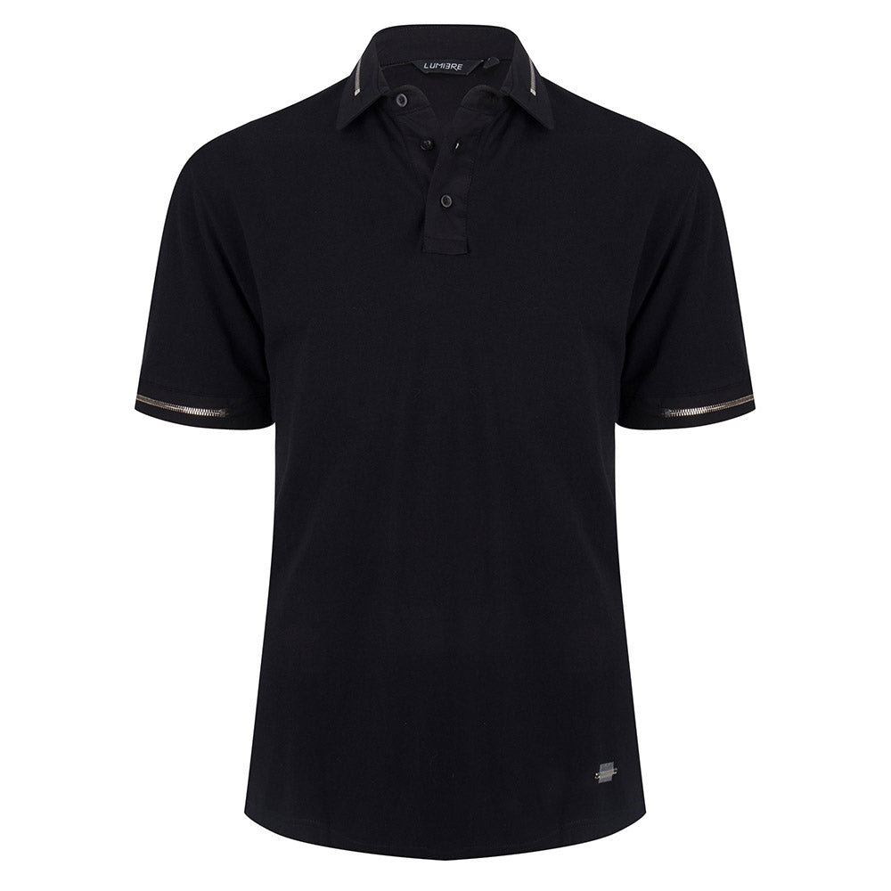 Zipper Polo Black