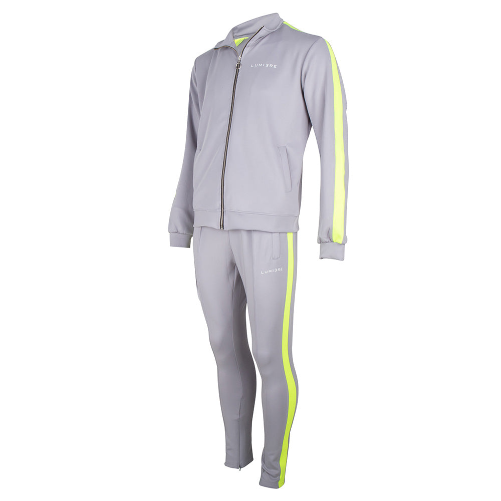 Lumi3re Tracksuit Grey-Yellow