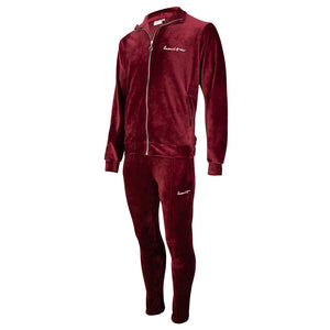 Velour Tracksuit Burgundy Red