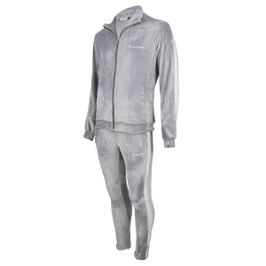 Velour Tracksuit Grey-White