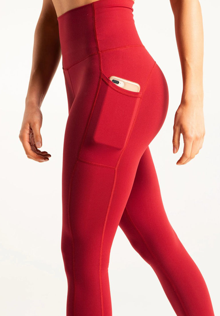 FitPro Pocket Leggings - Ruby