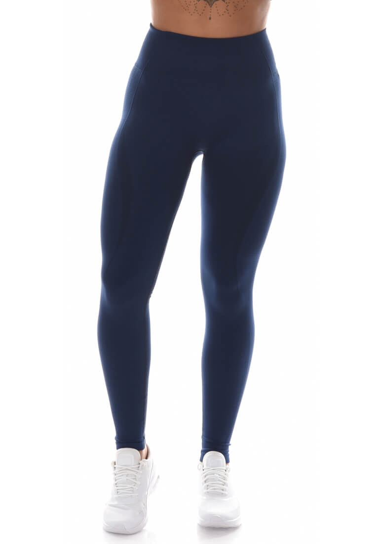 Yoga Flex Seamless Leggings - Navy Blue