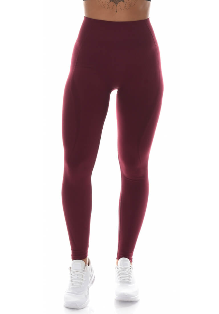Yoga Flex Seamless Leggings - Burgundy