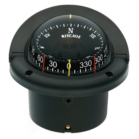 Ritchie HF-743 Helmsman Combidial Compass - Flush Mount - Black [HF-743]