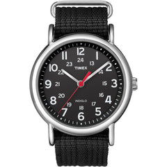 Timex Weekender Slip-Thru Watch - Black [T2N647]