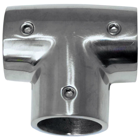 "Whitecap 1"" O.D. 90 Degree SS Tee Rail Fitting [6143C]"