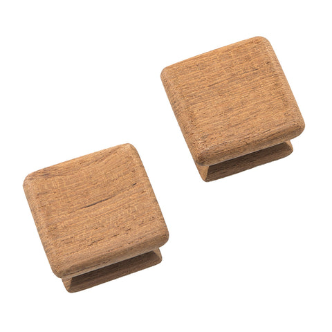 "Whitecap Teak Square Drawer Knob - 1-1/8"" - 2 Pack [60130-A]"