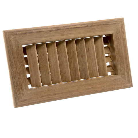 "Whitecap Teak Air Conditioning Vent - 9-3/4"" x 5-3/4"" x 1-1/2"" [60629]"