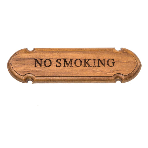 "Whitecap Teak ""No Smoking"" Name Plate [62672]"