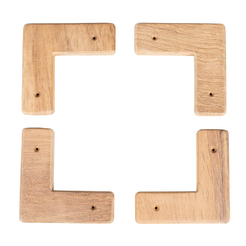 Whitecap Teak Cooler/Box Chocks - 4 Pack [60329]