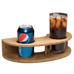 Whitecap Teak Curved Two-Drink Rack [63218]