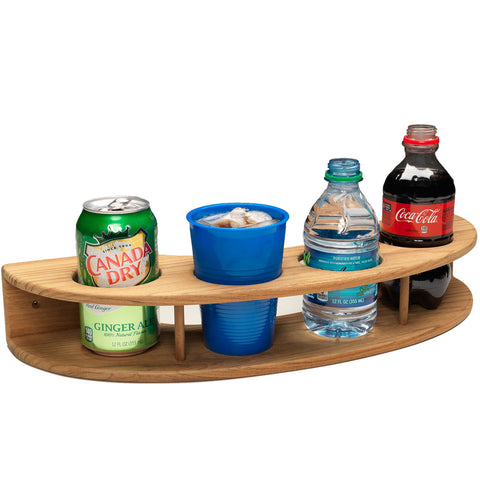 Whitecap Teak Curved Four-Drink Rack [63219]