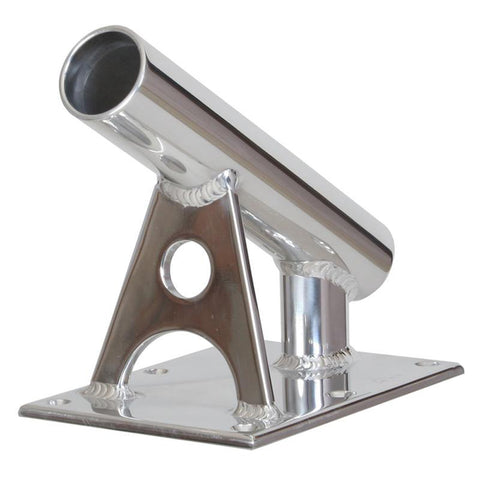 "Lee's MX Pro Series Fixed Angle Center Rigger Holder - 30 Degree - 1.5"" ID - Bright Silver [MX7002CR]"