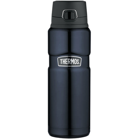 Thermos Stainless King Stainless Steel, Vacuum Insulated Drink Bottle - Midnight Blue - 24 oz. [SK4000MBTRI4]