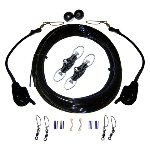 Rupp Single Rigging Kit W/Lok-Ups & Nok-Outs - 160' Black Mono [CA-0172-MO]
