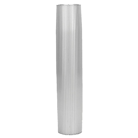 "TACO Aluminum Ribbed Table Pedestal - 2-3/8"" O.D. - 26"" Length [Z60-8266VEL26-2]"