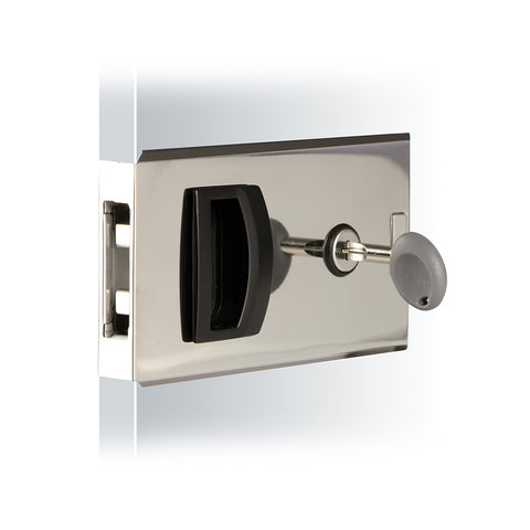 Southco Flush Sliding Door Latch - Square - Aluminum [MF-01-110-60]