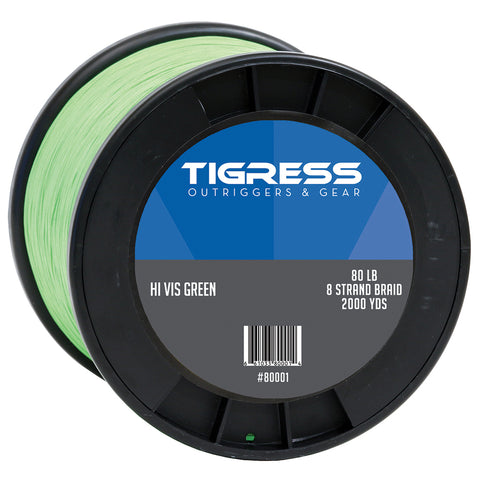 Tigress High-Visibility 80lb Kite Braid - Green [80001]