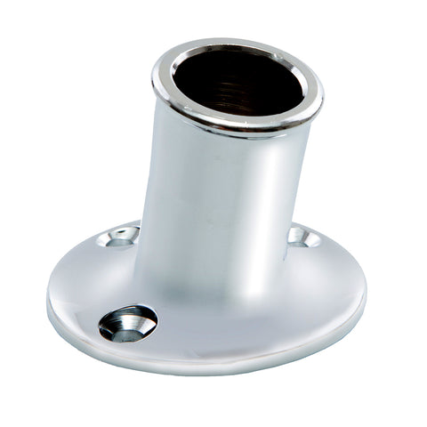 "Whitecap Top-Mounted Flag Pole Socket CP/Brass - 3/4"" ID [S-5001]"