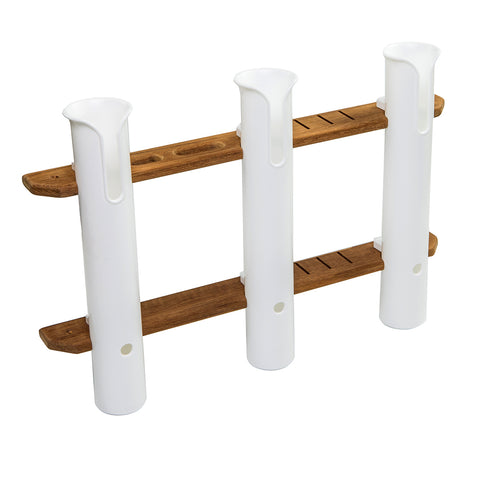 Whitecap Teak 3-Rod Tournament Storage Rack [63449]