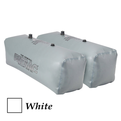 FATSAC V-drive Fat Sacs - Pair - 400lbs Each - White [W701-WHITE]