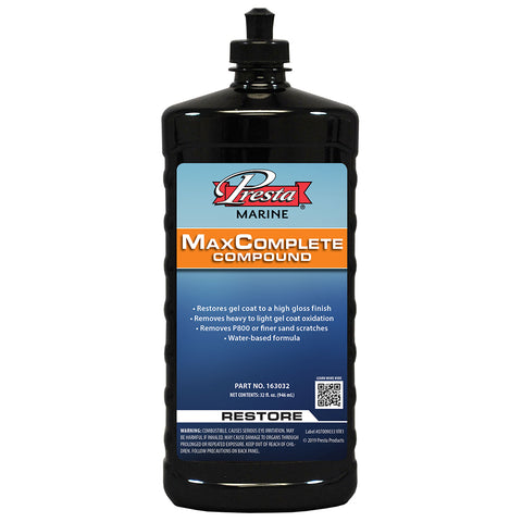 Presta MaxComplete Compound - 32oz [163032]
