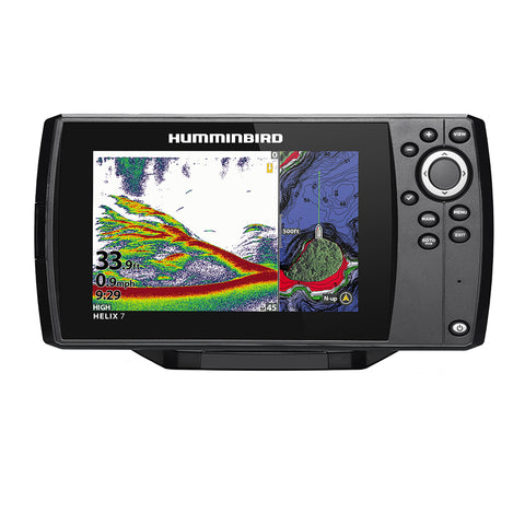 Humminbird HELIX 7 CHIRP Fishfinder/GPS Combo G3N w/Transom Mount Transducer [411060-1]