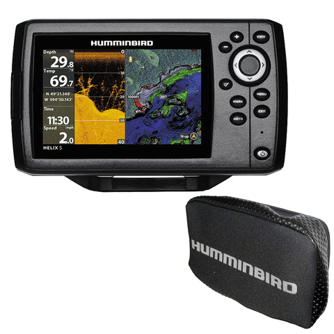 Humminbird HELIX 5 CHIRP DI GPS G2 Combo w/Free Cover [410220-1COVER]