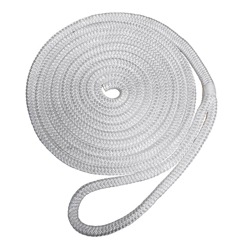 "Robline Premium Nylon Double Braid Dock Line - 3/8"" x 15 - White [7181922]"