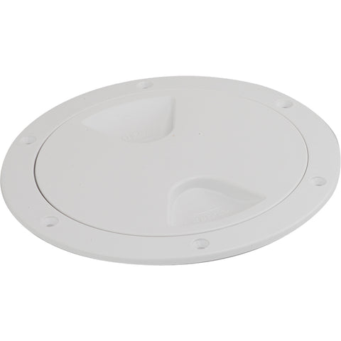 "Sea-Dog Screw-Out Deck Plate - White - 4"" [335740-1]"