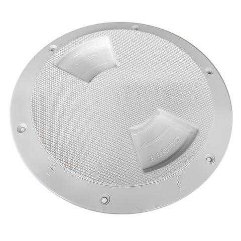 "Sea-Dog Quarter-Turn Textured Deck Plate w/Internal Collar - White - 6"" [336362-1]"