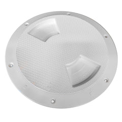 "Sea-Dog Quarter-Turn Textured Deck Plate w/Internal Collar - White - 8"" [336382-1]"