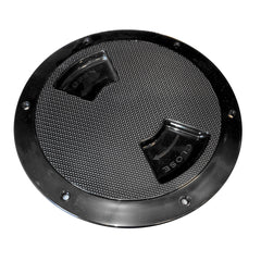 "Sea-Dog Quarter-Turn Textured Deck Plate w/Internal Collar - Black - 8"" [336387-1]"