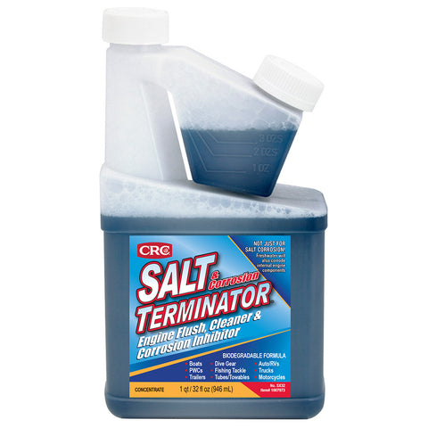CRC SX32 Salt Terminator Engine Flush, Cleaner  Corrosion Inhibitor - 32 FL Oz *Case of 7 [1007971]