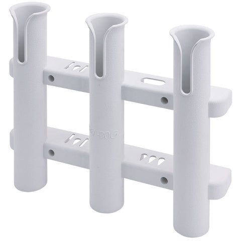Sea-Dog Three Pole Rod Storage Rack - White [325038-1]