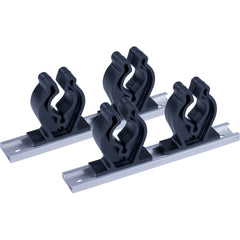 "Sea-Dog Track Rod Holder - 7"" Tracks - 4 Rod Clips [325044-1]"