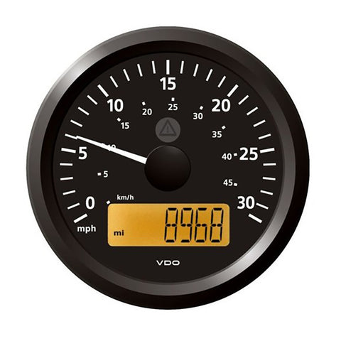 "Veratron 3-3/8"" (85 mm) ViewLine Speedometer - 0 to 30 MPH - 12/24V - Black Dial  Triangular Bezel [A2C59512372]"