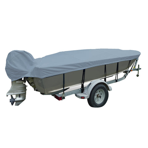 Carver Performance Poly-Guard Narrow Series Styled-to-Fit Boat Cover f/15.5 V-Hull Fishing Boats - Grey [70125P-10]