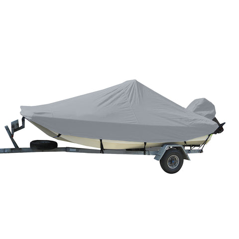 Carver Performance Poly-Guard Styled-to-Fit Boat Cover f/20.5 Bay Style Center Console Fishing Boats - Grey [71020P-10]