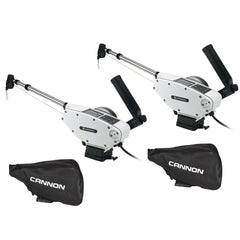 Cannon Optimum 10 Tournament Series (TS) BT Electric Downrigger 2-Pack w/Black Covers [1902340X2/COVERS]