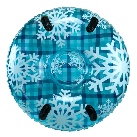 "Aqua Leisure 43"" Pipeline Sno Clear Top Racer Sno-Tube - Cool Blue Plaid [PST13365S2]"