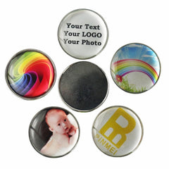 Customized Golf Ball Marker Printed w Your Own LOGO, Name, Photo, fit most Golf Hat Clips, Divot Repair Tools pack of 10