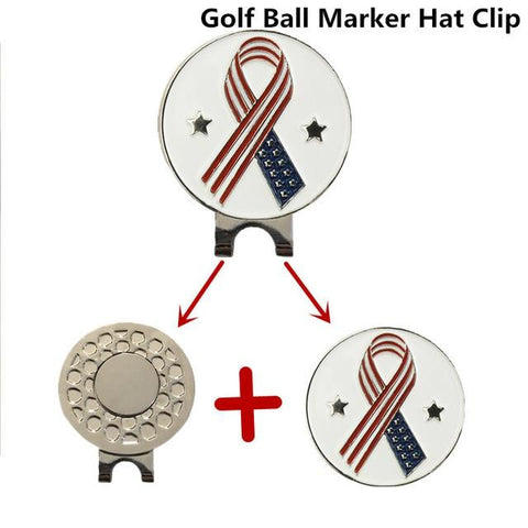 Magnetic Golf Markers Hat Clips Official Alloy Ball Mark Hat Clips Caps Outdoor Golf Accessories Training Aids Golfer Suppliers