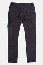 Black on black patched pant