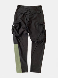 Black & camo patched M-65 cargo pant