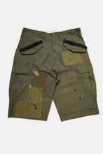 Olive Patched M-65 cargo shorts