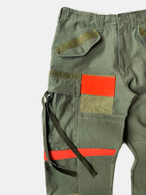 Olive & orange patched M-65 cargo pant